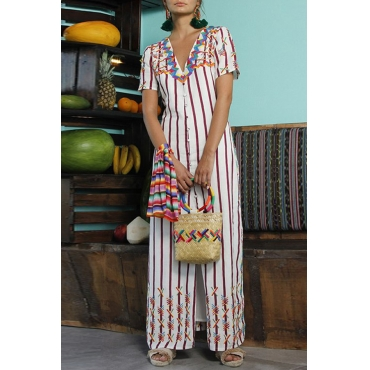 Lovely Casual Printed White Ankle Length Dress