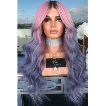 Lovely Purple/ Red High Temperature Wire Wigs