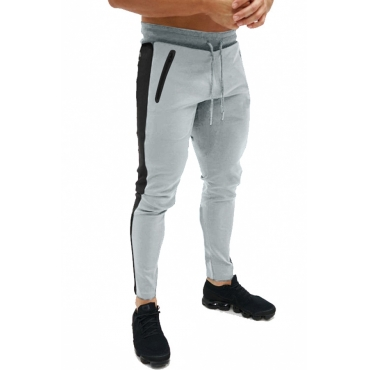 Lovely Casual Mid Waist Light Grey Sweatpants