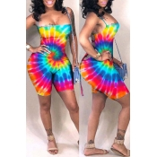 Lovely Sexy Printed Hollow-out One-piece Romper(With Elastic)