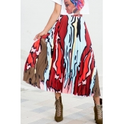 Lovely Casual Printed A Line Skirts