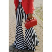 Lovely Fashion High Elastic Striped Black-white Pa