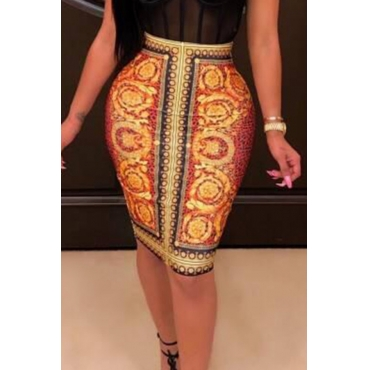 Lovely Bohemian Printed Knee Length Skirts