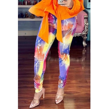 Lovely Casual High Elastic Printed Pants(With Elastic)