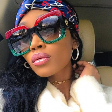 Lovely Fashion Patchwork Red PC Sunglasses