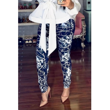 Lovely Stylish High Waist Printed Pants