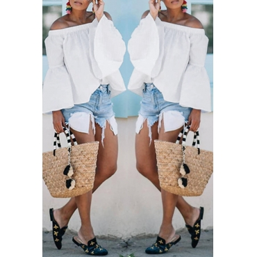 Lovely Off The Shoulder White Blouses