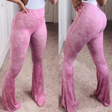 Lovely Leisure High Elastic Pink Pants(With Elastic)