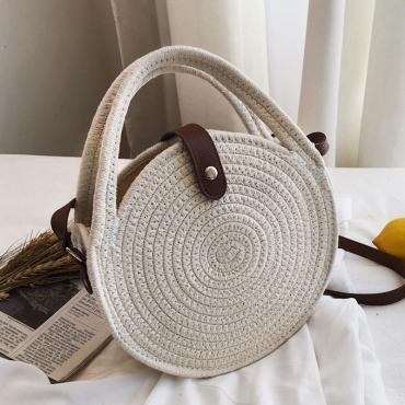 Lovely Casual White Crossbody Bag