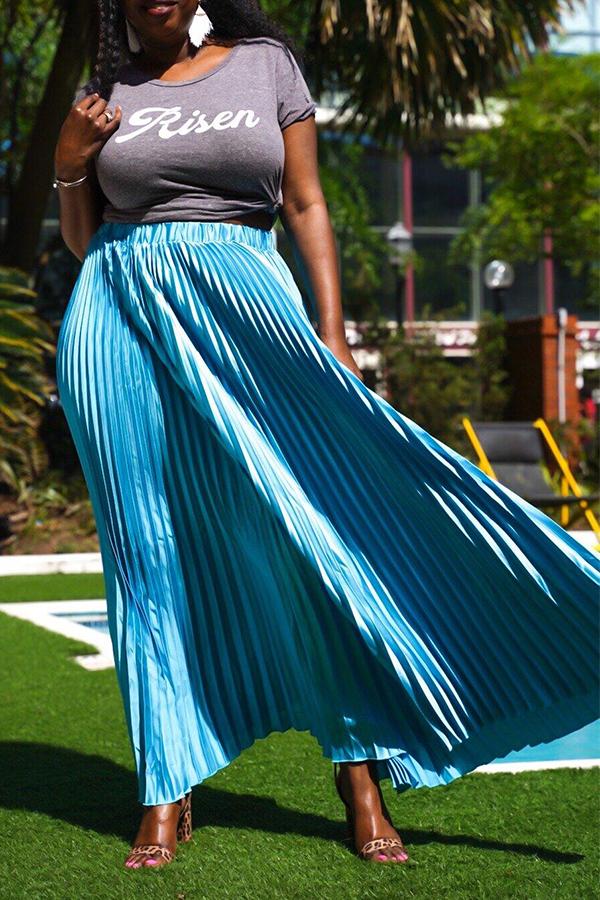 Lovely Stylish Skyblue Ankle Length A Line Skirt