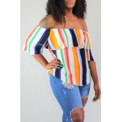 Lovely Casual Striped Multicolor Blouse