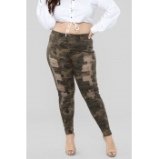Lovely Chic Camouflage Printed Army Green Pants