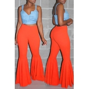 Lovely Stylish High Waist Red Horn-type Pants