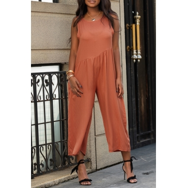 Lovely Casual Backless Loose One-piece Jumpsuit