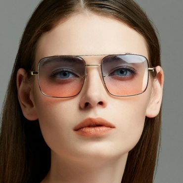 Lovely Fashion Hollow-out Blue Metal Sunglasses