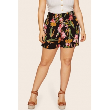 Lovely Casual Printed Black Shorts