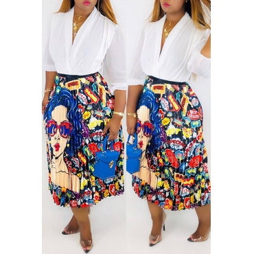 Lovely Trendy Cartoon Printed  Ankle Length Skirt