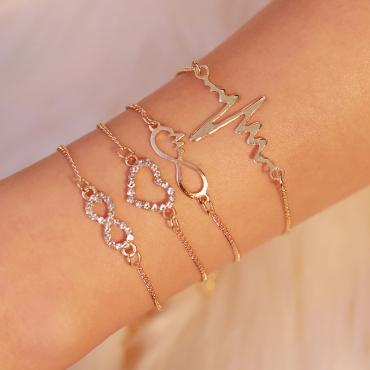 Lovely Fashion Hollow-out Gold Alloy Bracelet