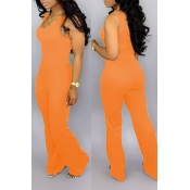 Lovely Casual O Neck Croci One-piece Jumpsuit