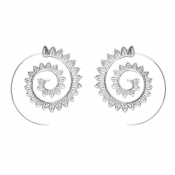 Lovely Vintage Hollow-out Silver Alloy Earring