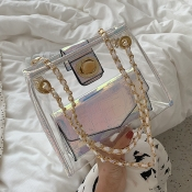 Lovely Chic White Transparent Jelly Messenger Bag
