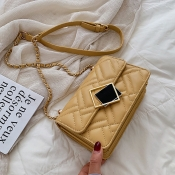 Lovely Chic Chain Design Yellow Messenger Bag