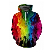 Lovely Casual Hooded-collar Printed Multicolor Hoo