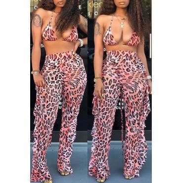 Lovely Leopard Printed Two-piece Swimwear