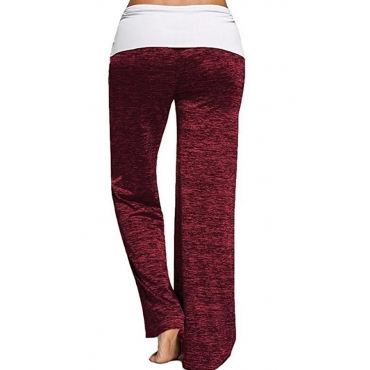 Lovely Casual Patchwork Red Loose Pants