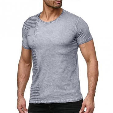 Lovely Casual O Neck Grey T-shirt
