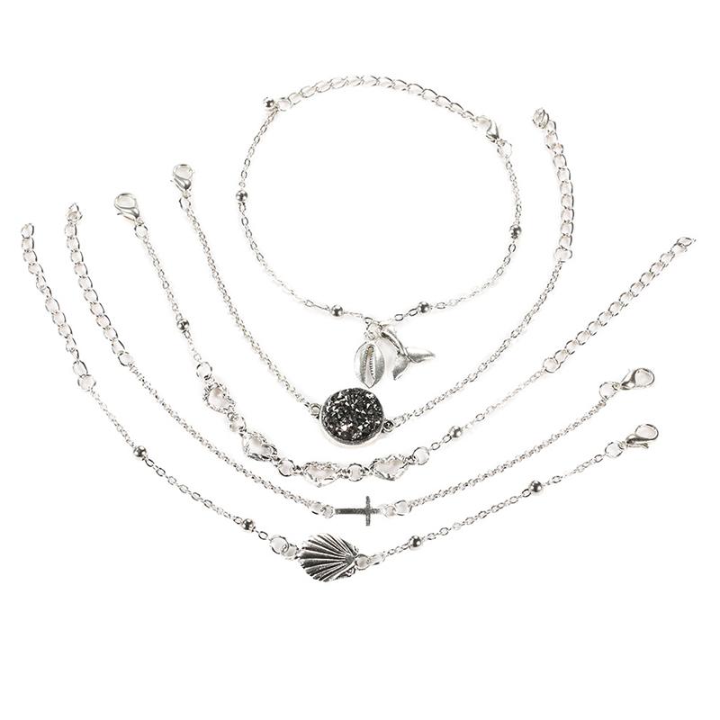 Lovely Stylish Hollow-out Silver Alloy Bracelet