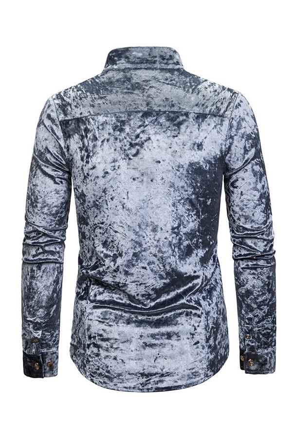 Lovely Casual Asymmetrical Light Grey Shirt