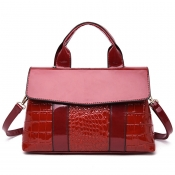 Lovely Stylish Patchwork Red PU Messenger Bag