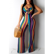 Lovely Sexy Off The Shoulder Striped Hollow-out Mu