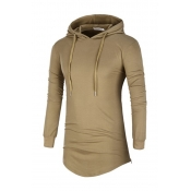 Lovely Casual Hooded Collar Khaki Hoodies