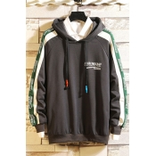 Lovely Casual Hooded Collar Patchwork Deep Grey Ho