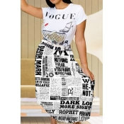 Lovely Casual Letter Printed Black And White Ankle