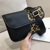Lovely Fashion Patchwork Leopard Printed Crossbody