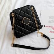 Lovely Trendy Black Crossbody Bag