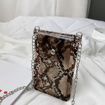 Lovely Fashion Animal Printed Brown Crossbody Bag