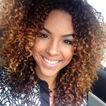 Lovely Trendy Short Curly Brown Wigs