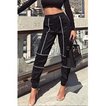 Lovely Trendy Striped Black Pants