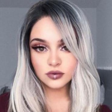 Lovely Trendy Gradual Change White Wigs