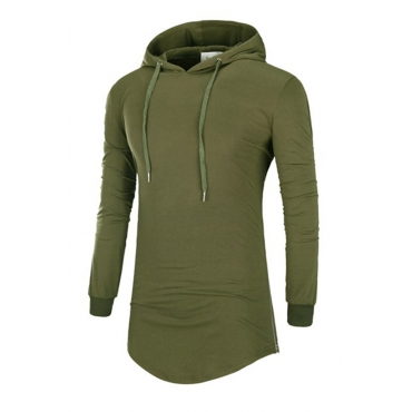 Lovely Casual Hooded Collar Army Green Hoodies