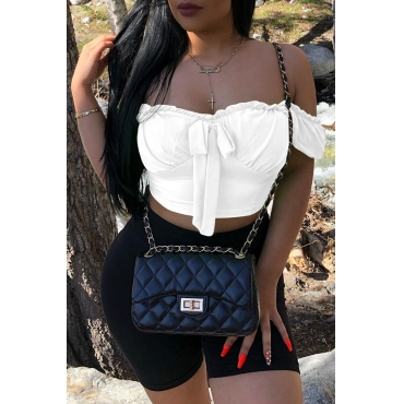 Lovely Trendy Off The Shoulder White Blouse
