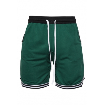 Lovely Casual Patchwork Green Shorts