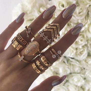 Lovely Trendy Gold Alloy Ring