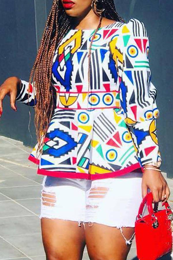 Lovely Tredy Printed Multicolor Blouse