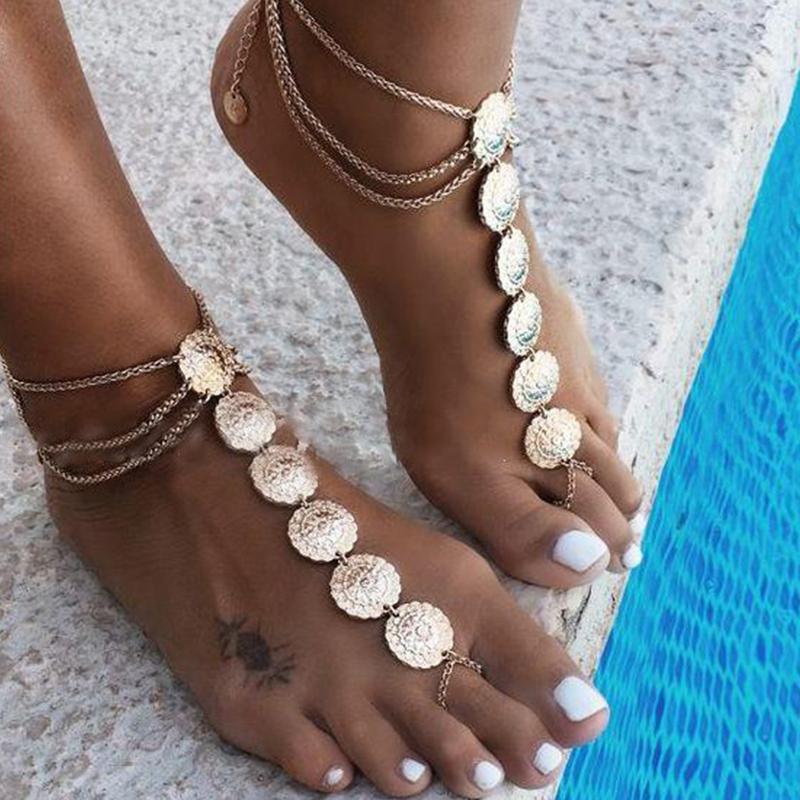 Lovely Trendy Cascading Gold Anklet