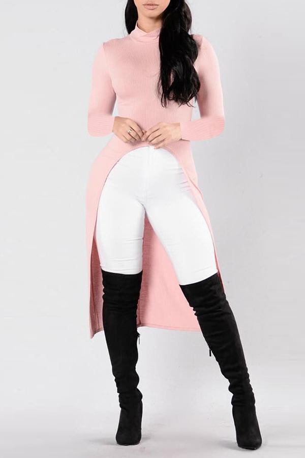 Lovely Leisure Asymmetrical Light Pink T-shirt